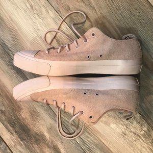 NWOT Men's Pro Keds Pink Hairy Sneakers 10.5